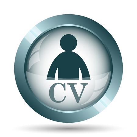 CV icon. Internet button on white background.
