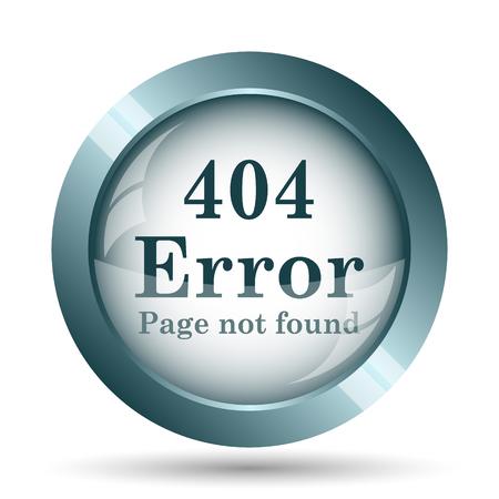 incorrect: 404 error icon. Internet button on white background.