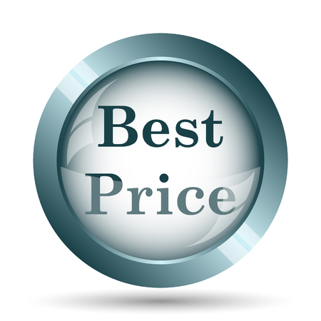 最高の価格のアイコン。白い背景の上のインター ネット ボタン。