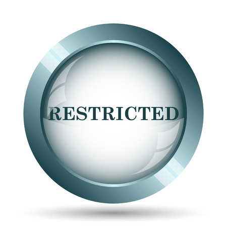 incorrect: Restricted icon. Internet button on white background. Stock Photo