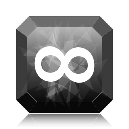 Infinity sign icon, black website button on white background. Stock fotó
