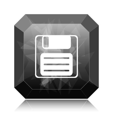 Save icon, black website button on white background. Stock Photo