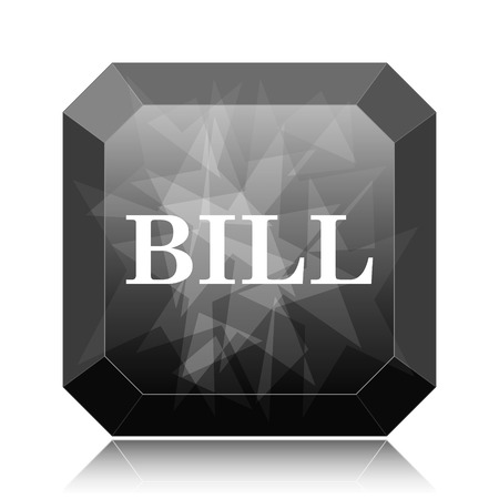 accounts payable: Bill icon, black website button on white background. Stock Photo