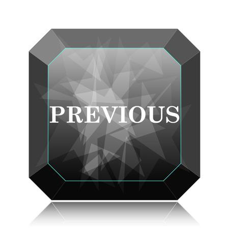 Previous icon, black website button on white background. Reklamní fotografie
