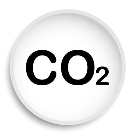 CO2 icon. CO2 website button on white background. Stock Photo