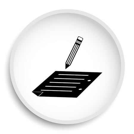 Subscribe icon. Subscribe website button on white background.