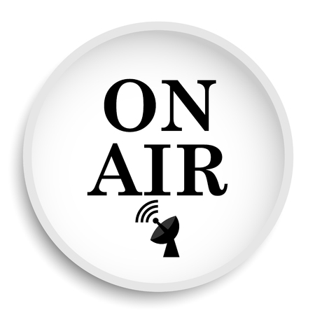 live stream tv: On air icon. On air website button on white background. Stock Photo