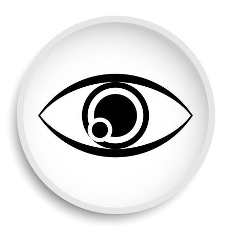 Eye icon. Eye website button on white background.