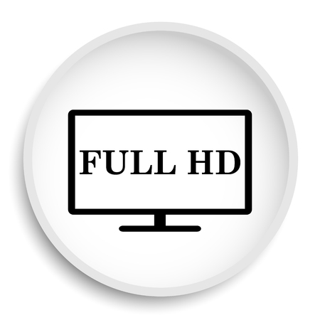 lcd: Full HD icon. Full HD website button on white background.