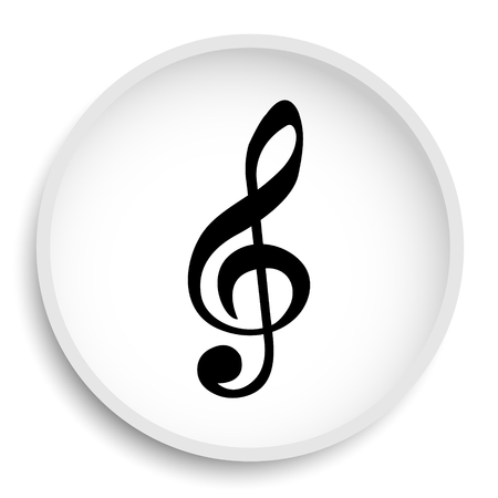 volume control: Musical note icon. Musical note website button on white background.