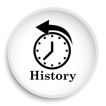 History icon. History website button on white background.