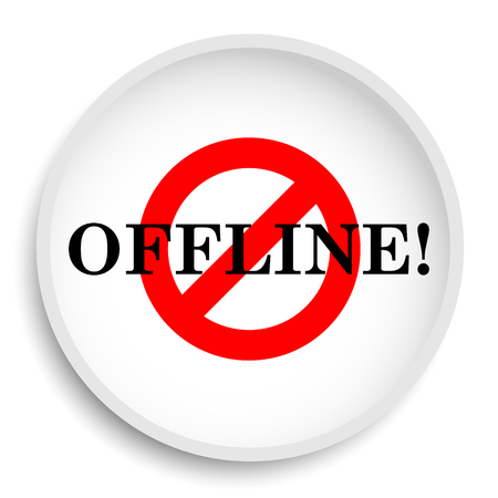 Offline icon. Offline website button on white background. Stock Photo