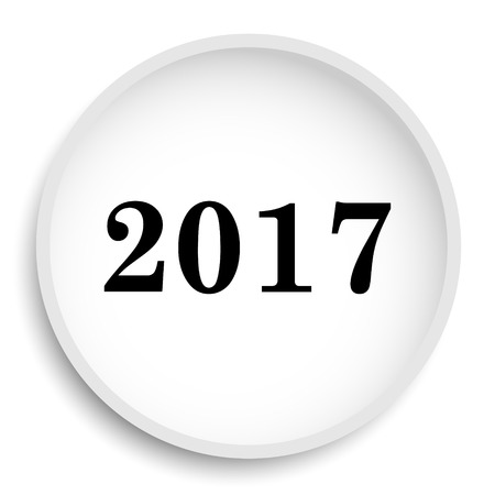 next year: Year 2017 icon. Year 2017 website button on white background. Stock Photo