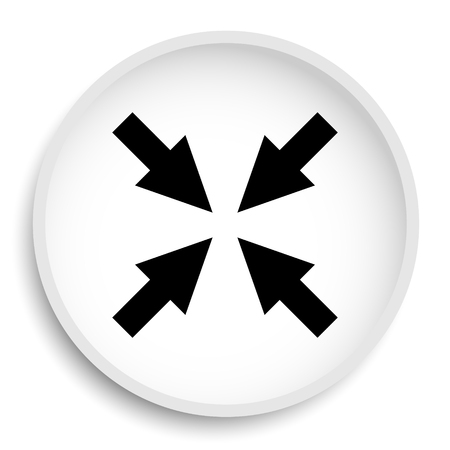Exit full screen icon. Exit full screen website button on white background.