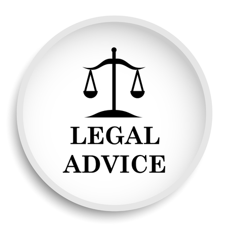 truthfulness: Legal advice icon. Legal advice website button on white background.