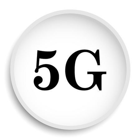 3g: 5G icon. 5G website button on white background.