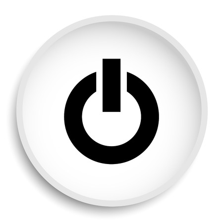 Power button icon. Power button website button on white background.