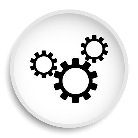 volume knob: Settings icon. Settings website button on white background. Stock Photo
