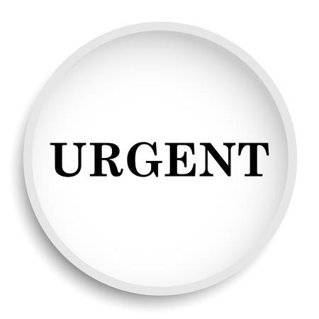 promptness: Urgent icon. Urgent website button on white background. Stock Photo