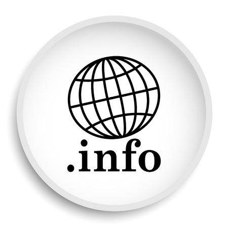 .info icon. .info website button on white background.