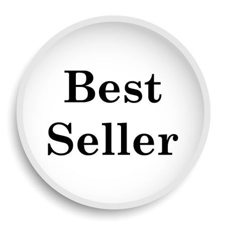 最高の売り手のアイコン。白い背景の最高販売ウェブサイトのボタン。