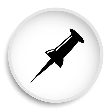 Pin icon. Pin website button on white background.