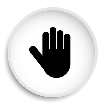 Stop icon. Stop website button on white background.