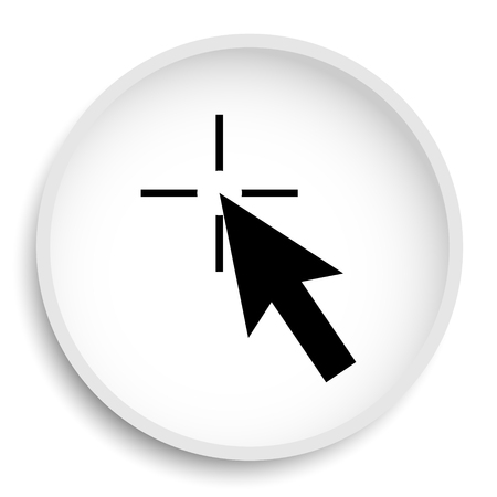 Click here icon. Click here website button on white background.