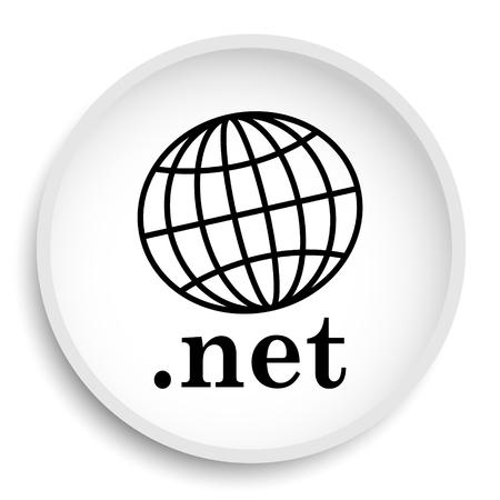 .net icon. .net website button on white background.
