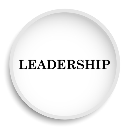 superintendence: Leadership icon. Leadership website button on white background. Stock Photo