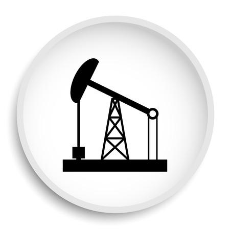 油ポンプのアイコン。油ポンプ ウェブサイトのボタンを白い背景の上。 写真素材