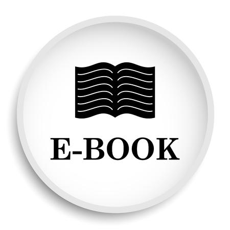 scribe: E-book icon. E-book website button on white background.