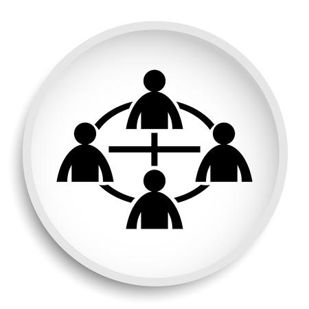 Communication icon. Communication website button on white background.