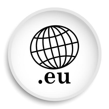 .eu icon. .eu website button on white background. Stock Photo