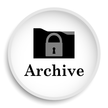 Archive icon. Archive website button on white background. Imagens - 75401650