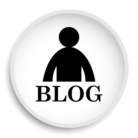 Blog icon. Blog website button on white background.
