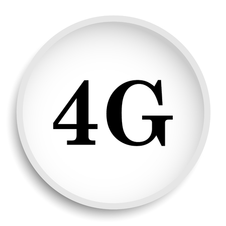3g: 4G icon. 4G website button on white background.
