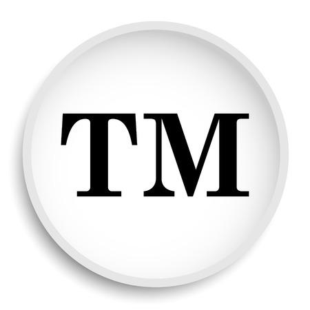 bevel: Trade mark icon. Trade mark website button on white background. Stock Photo