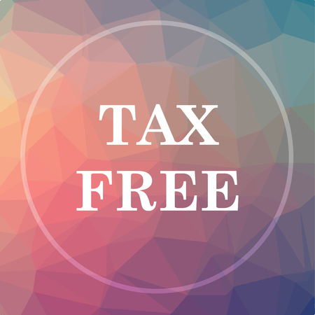 tax free icon tax free website button on low poly background stock