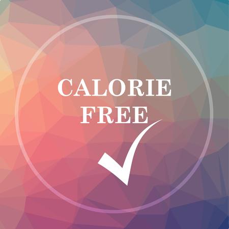 Calorie free icon. Calorie free website button on low poly background. Reklamní fotografie - 75886191