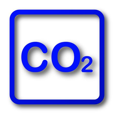 CO2 icon. CO2 website button on white background. Stock Photo