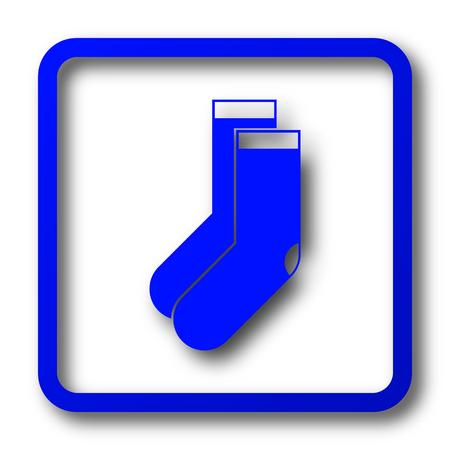 Socks icon. Socks website button on white background.