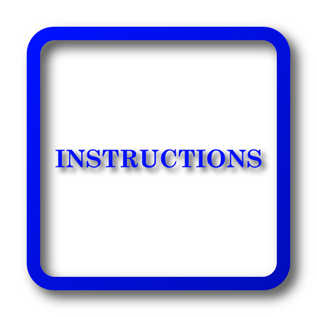 Instructions Icon Instructions Website Button On White Background