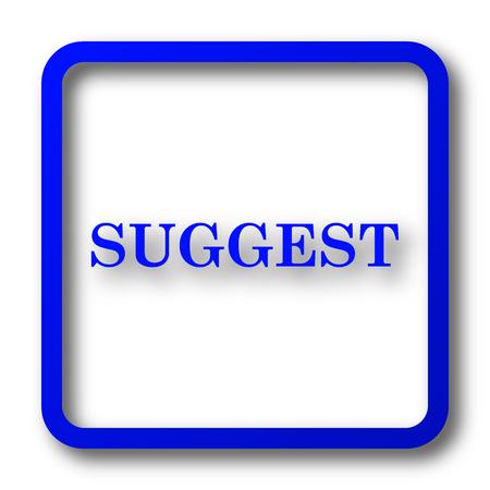 Suggest icon. Suggest website button on white background. Stok Fotoğraf