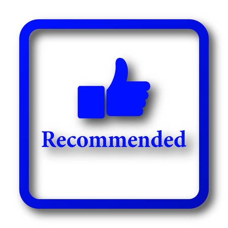 recommendations: Recommended icon. Recommended website button on white background.