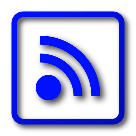 Rss sign icon. Rss sign website button on white background.