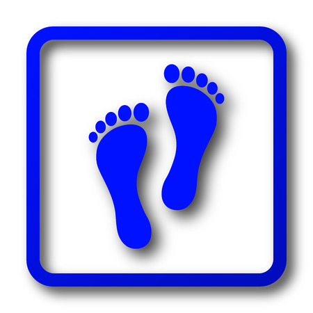 Foot print icon. Foot print website button on white background.