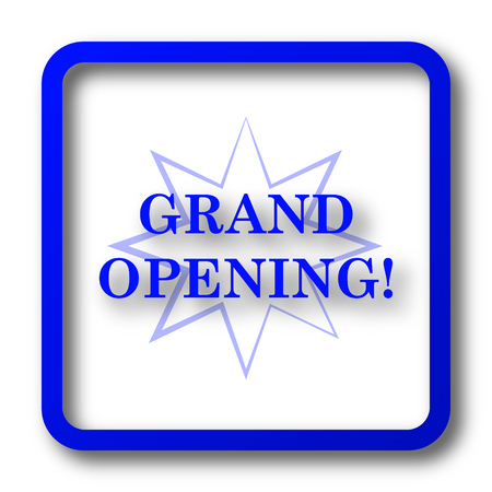 grand sale button: Grand opening icon. Grand opening website button on white background.