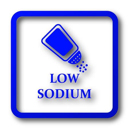 salt free: Low sodium icon. Low sodium website button on white background.
