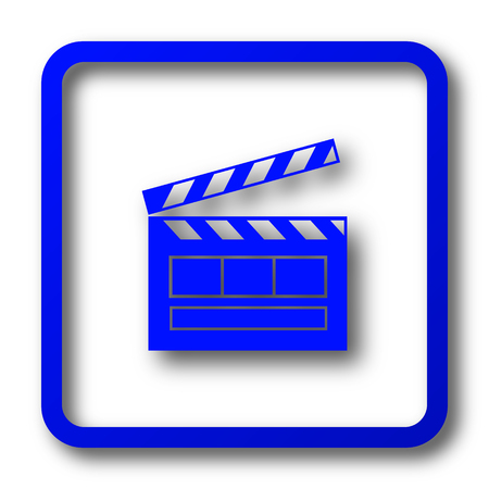 Movie icon. Movie website button on white background.